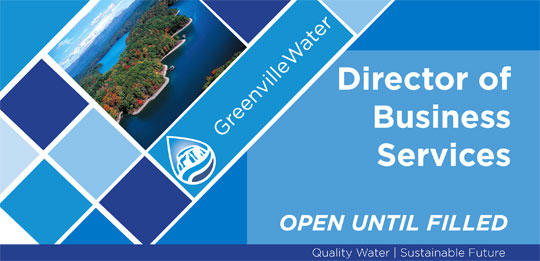 director of business services greenville sc greenville water jobs